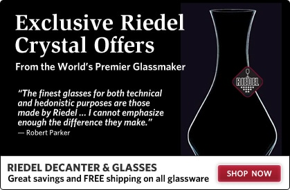 Exclusive Riedel Crystal Offers