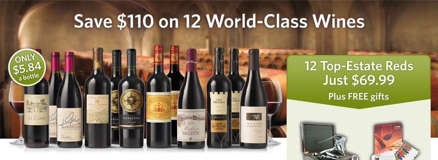 Save $110 on 12 World-Class Wines