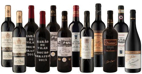 12-Bottles Classic European Reds