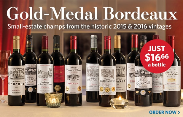 Gold Medal 2015 & 2016 Bordeaux